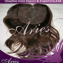 virgin mongolian hair machine made topper wig with clips