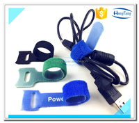Hook and loop nylon cable tie