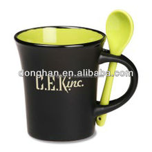 ceramic coffee mug with spoon world cup gifts,