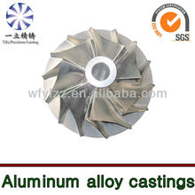 Aluminium alloy compressor wheel used for live steam locomotive