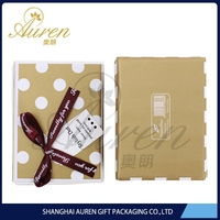 kraft luxury cardboard chocolate box with paper divider