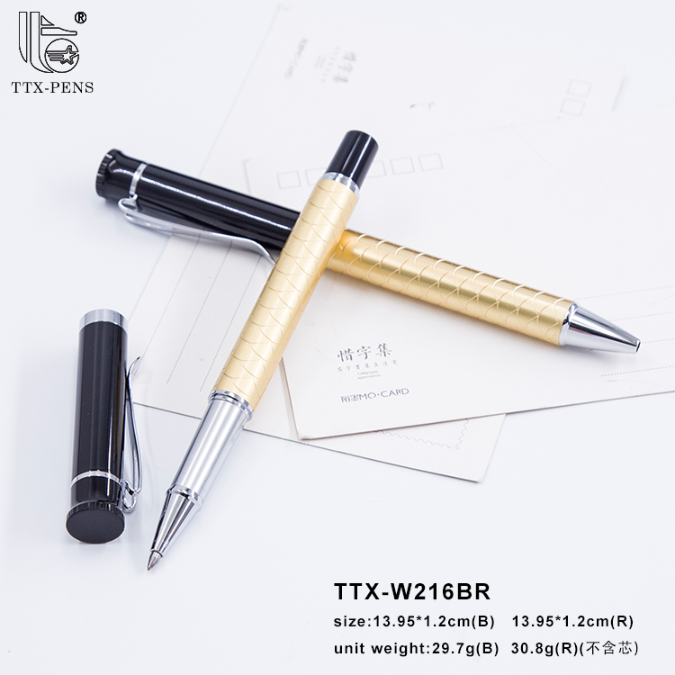 2017 Guangzhou metal ball pen wholesaler office golden pen