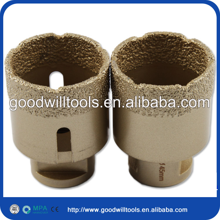 Low price 8mm M14 Vacuum brazed diamond tip core drill bit for marble