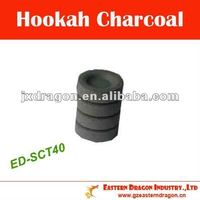 40mm 100% pure bamboo briquette charcoal for hookah ED-SCT40