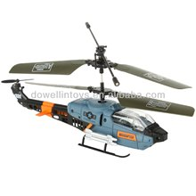 R/C helicopter,3 Channel RC Military Gyro Mini Indoor Helicopter