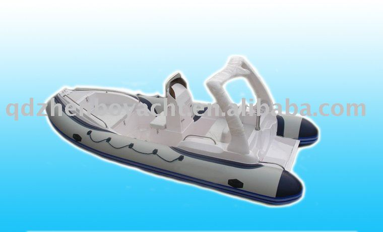 frp hull and inflatable tube boat
