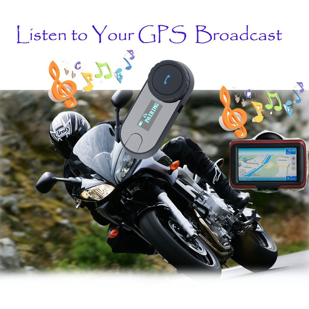 BT interphone Bluetooth Motorcycle helmet intercom With Screen