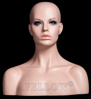 african mannequin head with shoulders