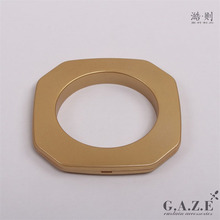 Wholesale 50mm golden matt ABS plastic square curtain rod eyelet rings