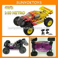 1/10 Nitro rc car ; 4wd Gas Powered remote control racing cars ;HQ723