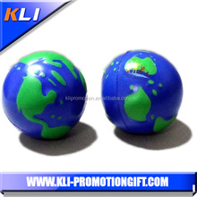 Promotional cheap custom shape earth PU foam stress ball