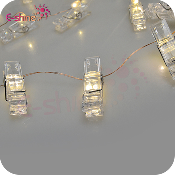 30 LED Promotional Gift Warm White Photo Clips String Lights with Good Quality
