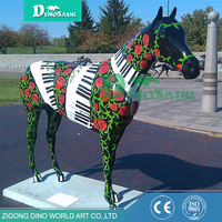 Outdoor amusement play ground horse sculpture Garden statue city