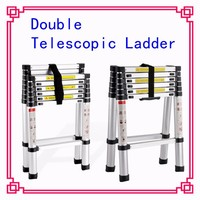 A Type Aluminium Bamboo Step Ladder