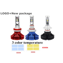 New Logo Head Light H7 Led Headlight Bulbs h4 Fanless ZES 12000Lm HB4 Auto X3 led Car Headlight h4 Led h7 Led