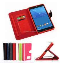 Luxury book style flip wallet case cover for Samsung galaxy Tab 4 T230 T231 7''