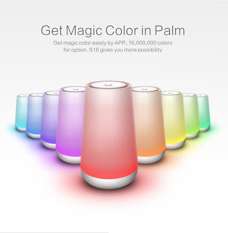 portable color changing LED light lamp bluetooth speaker with touch panel music desk lamp