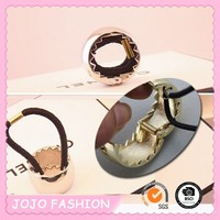 hair cuff shape metal synthetic ball ponytail holders with rubber band