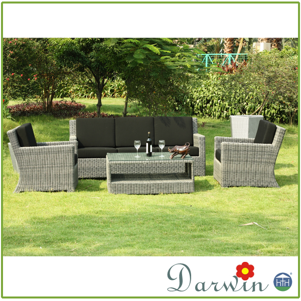 Cheap PE Rattan Living Room Sofa Set Big Lots Outdoor Furniture