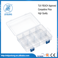 Jewelry Bead Storage Plastic Box Container 8 Slots Compartments Craft Organizer