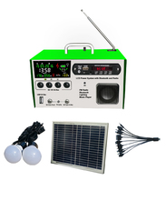 Solar home lighting kit LCD warning solar FM radio kit