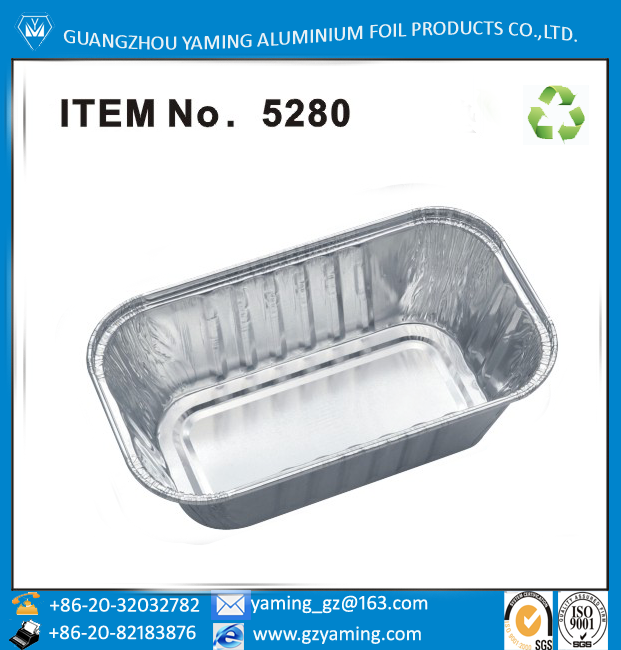rectangular small aluminium foil round edge loaf pan foil baking container