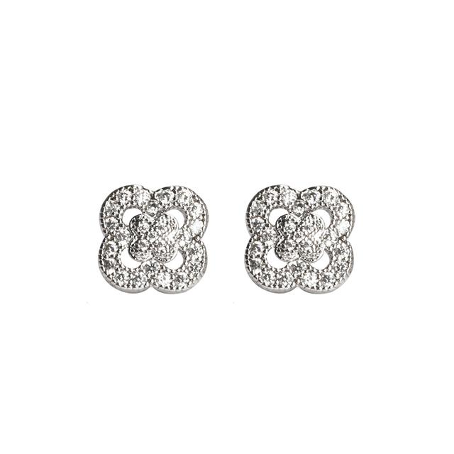 New 2016 Latest 2 Gram Beautiful Gold Earring Designs For Girl,Fashion Flower Stud Earrings,Crystal Silver Earrings Jewelry