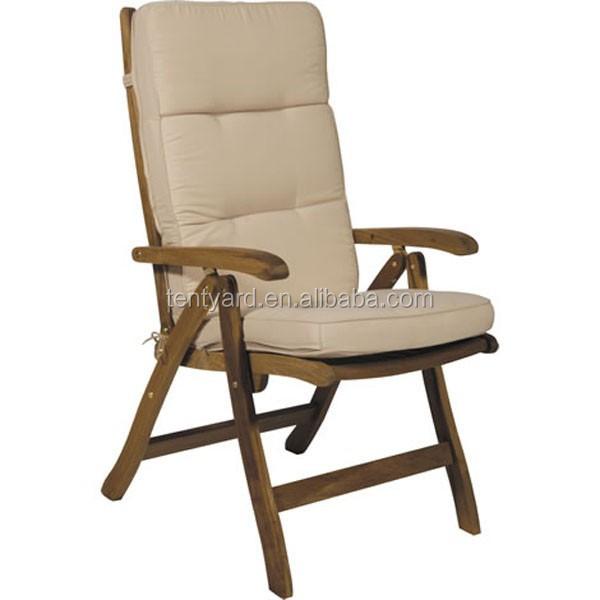 wood garden furniture back seat cushion outdoor chair