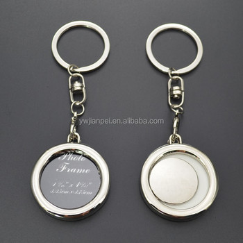 Mother's Day Gift Round Shape Photo Frame Keychain