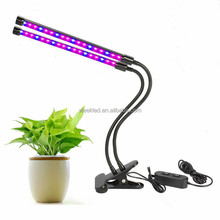 Dual head LED Plant Grow Light Upgraded 12W Detachable Desk Clip Grow Lamp tube with Adjustable Gooseneck