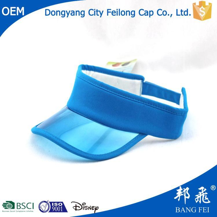 Multifunctional wholesale sun visor with pre-curved piping bill