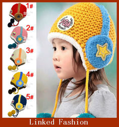 Latest design good quality monkey crochet baby hat