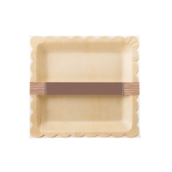 Multipurpose factory price disposable pine wood plates