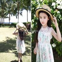 Baby Girl Party Dress Children Frocks Designs Korean Lace One Piece Dresses