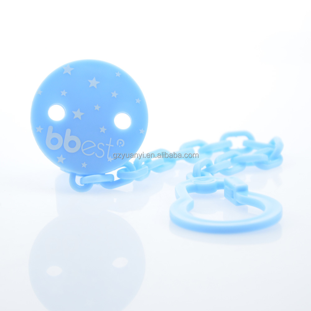 Manufacture BPA Free Round Shape Plastic Pacifier Clips/Dummy Clips/Soother Clip