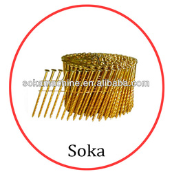 Varnish Coated /Galvanized Spiral Shank Pallet Screw Coil Nails