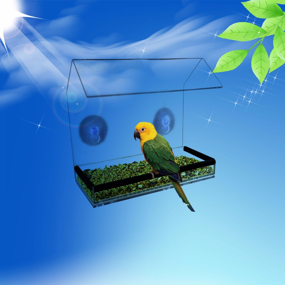Wholesale Wild Bird Feeder Acrylic Material Outdoor Usage
