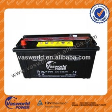 100AH 12v Dry-charged Car,minibus Battery N100 japan standard