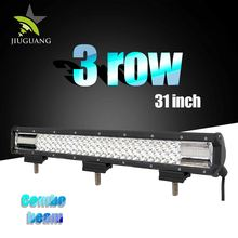 New Adjustable Bottom Bracket 31 inch 198W 3 Rows Led Light Bar for Sale