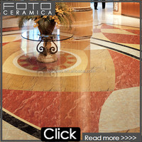Made in China glazed red jade porcelain artificial marble tiles /floor tiles