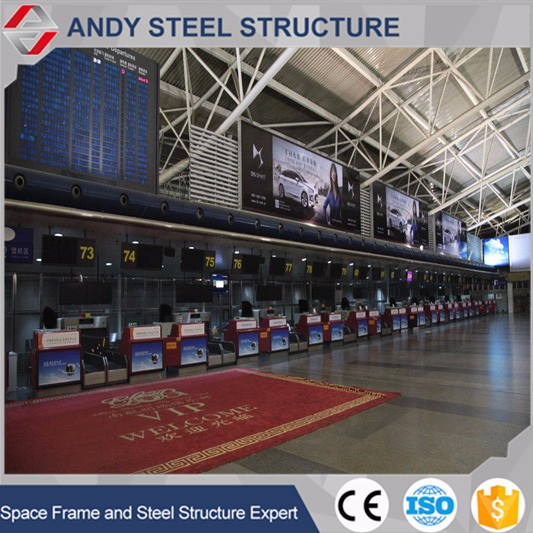Steel Truss Roofing Structure Railway Station Waiting Shed