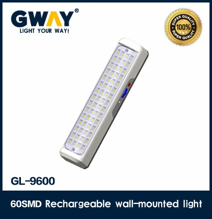 New very bright 60pcs of 5730SMD LED rechargeable emergency light wall mounted