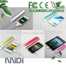 Long round type metal surface best safe power bank 10400mah for samsung galaxy note2