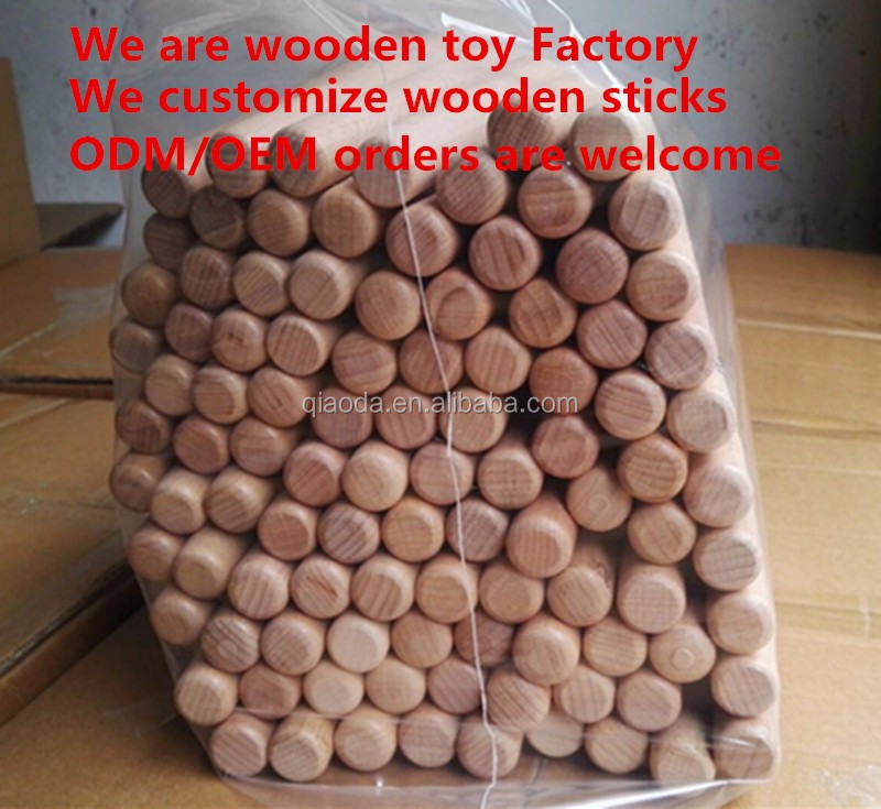 ODM OEM customize wooden sticks Beech wood round sticks Rhythm bar