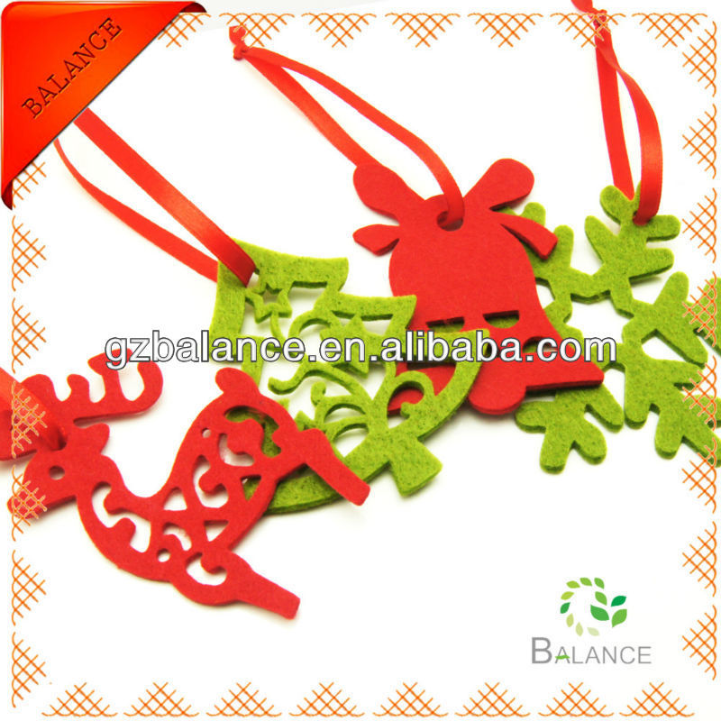 Christmas Craft felt decorations/felt wall decoration/retail christmas decorations