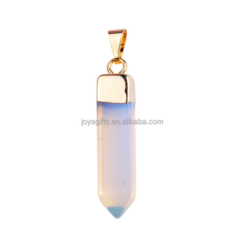 Wholesale New Design Gold Fashion Opal Gemstone Hexagonal Pendant for Women Accessories