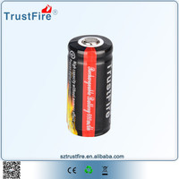 TrustFire 16430 li ion battery,3.7v icr 16340 rechargeable lithium battery for Led lights, Li ion battery for Toys high power
