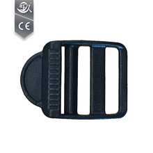 25mm Small Belt Black Plastic Buckle