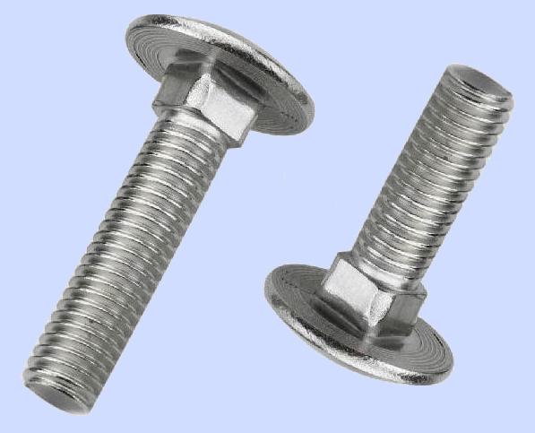 stainless 304 mushroom head square neck DIN603 carriage bolts