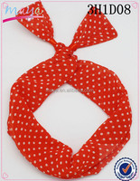 Red Polka Dots Headwear Goody Headbands Unique Hair Accessories (approved by BV) 3H1D07